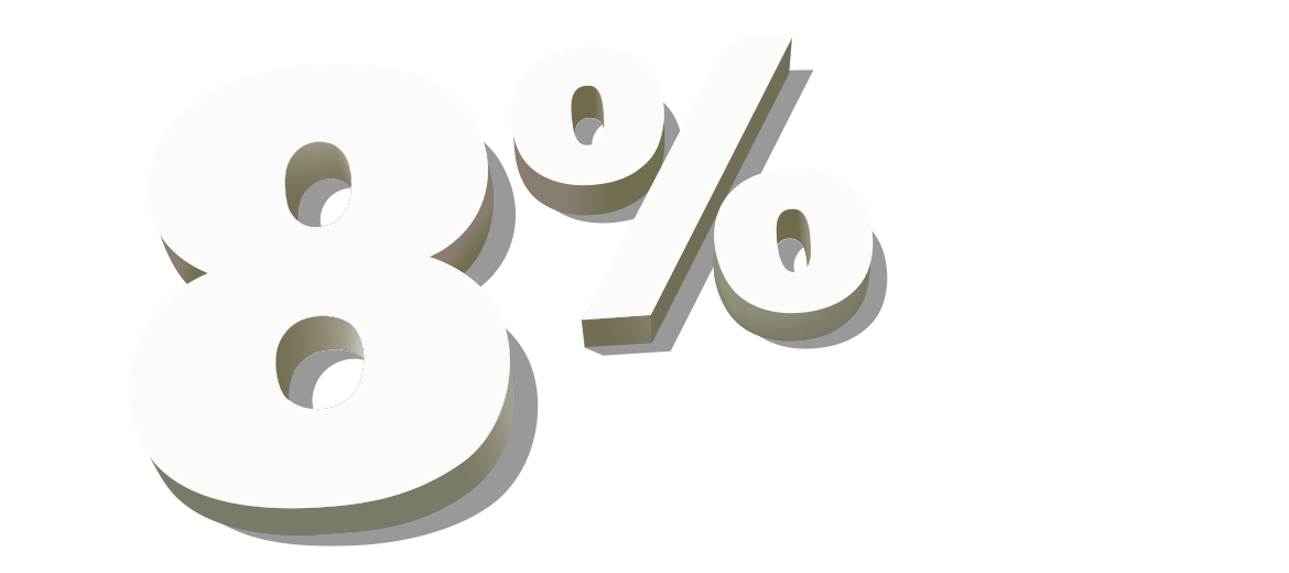 8% fully managed service